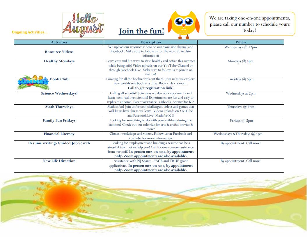 August Information