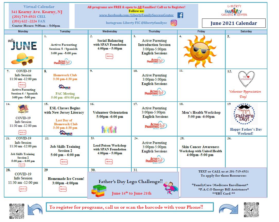 Liberty FSC June 2021 Calendar