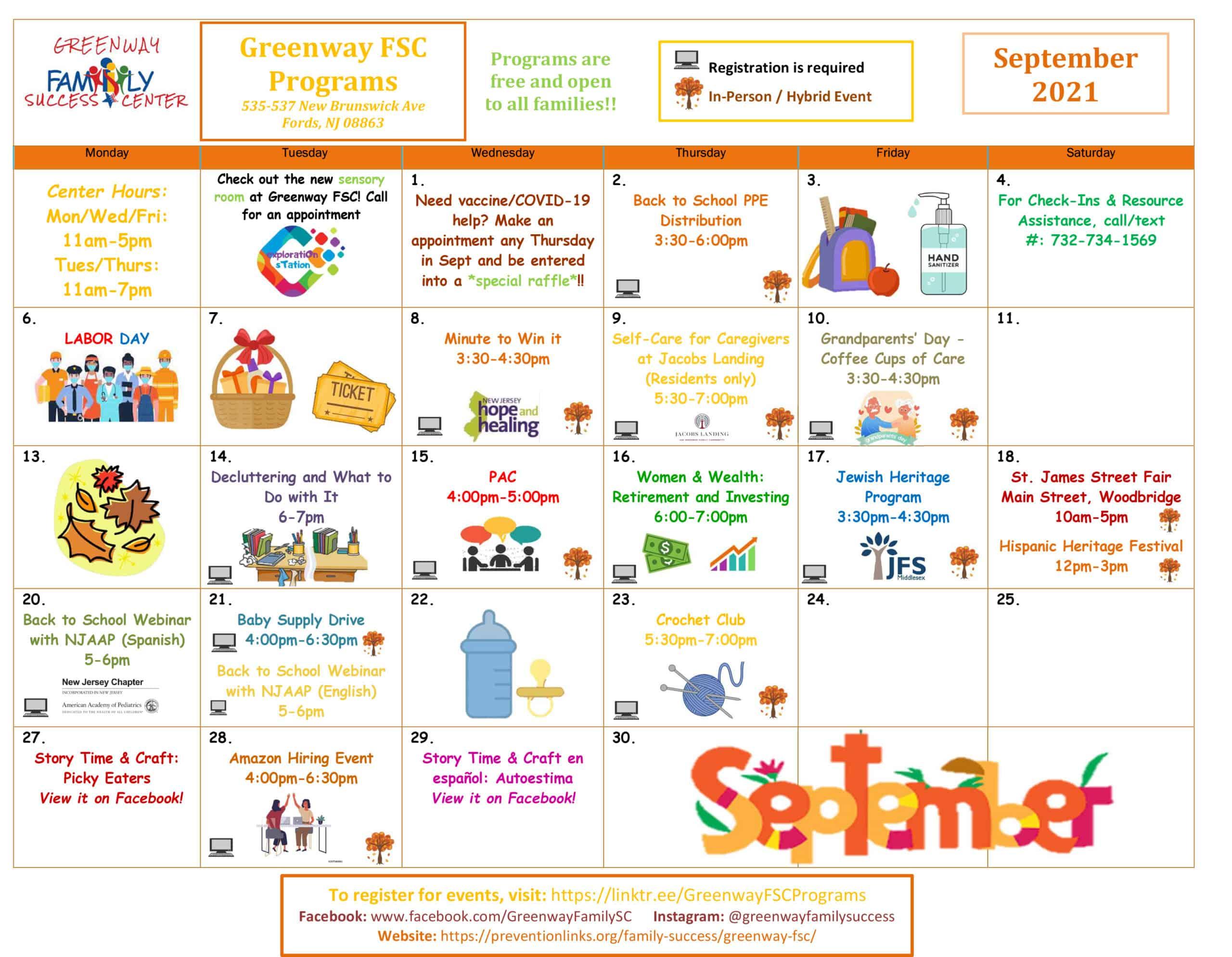Microsoft Word - Greenway September 2021 Programs