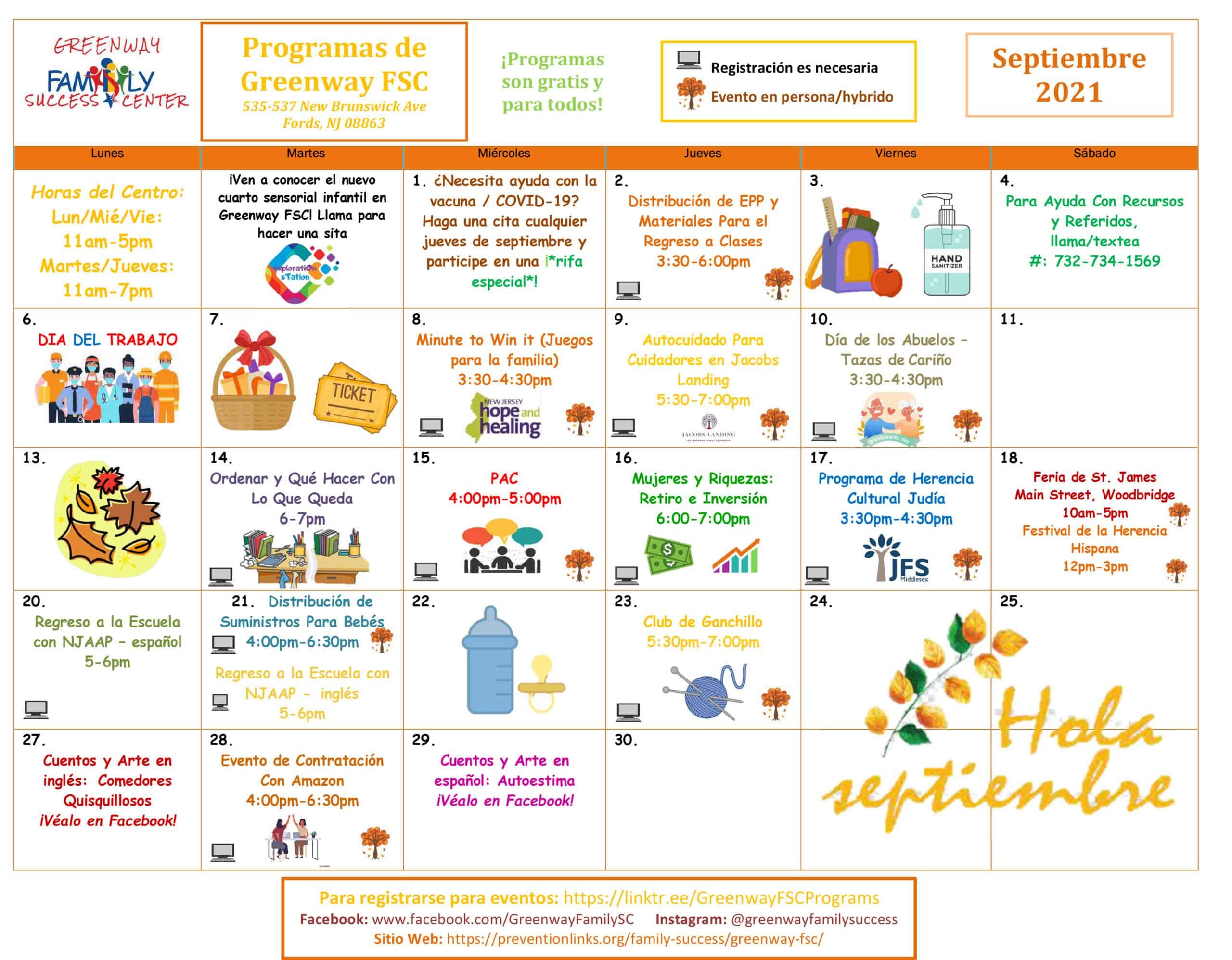 Microsoft Word - Greenway September 2021 Programs Spanish